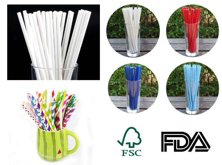 (Box/10000 pcs) Knocking Plastic Out Eco-friendly FSC Certified Paper Straw Wholesale Pure White FDA Tested Paper Straw European And American Baking Accessories Decoration Color Party Color Custom Straw (Door Delivery Included)