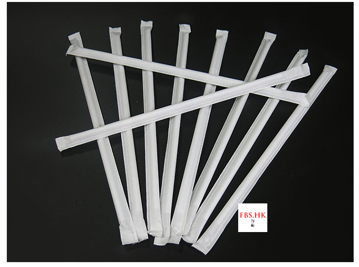 (Box/10000Pcs) Paper Wrapped Tube Individually Packed Curved Pipette Superior Disposable Straw White 6mm (Door Delivery Included)