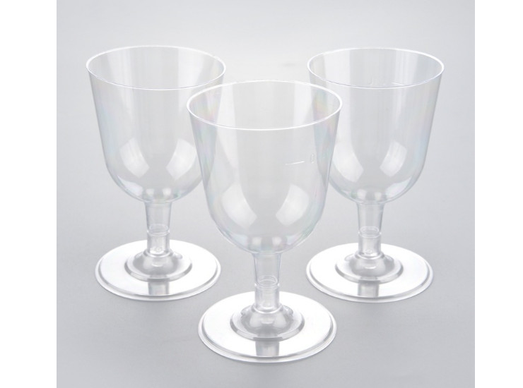 (Box/150) 100Ml Disposable Cup Ps Hard And Soft Combination Of Small Cup Red Wine Glass Goblet Wedding Cup (Door Delivery Included)
