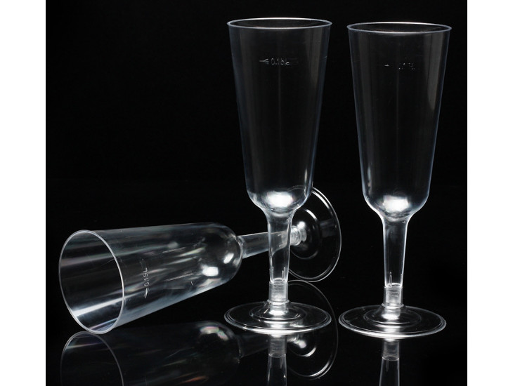 (Box/150) 150Ml Disposable Cup Transparent Plastic Goblet Party Champagne Cocktail Glass Wine Wine (Door Delivery Included)