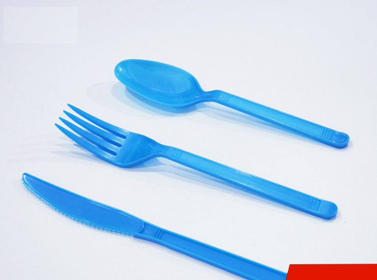 (Box/20 Packs/160 Sets) Disposable Cutlery Spoon Color Plastic Thick Pp Export Spoon Steak Fork Knife And Fork Spoon Independent Packaging (Door Delivery Included)