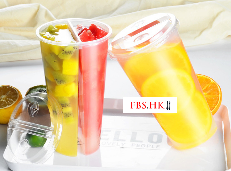 (Box/200) New Disposable Couple Plastic Cup 600Ml Drink Cup Double Ring Sharing Milk Tea Cup Pp Injection Cup With Lid (Door Delivery Included)