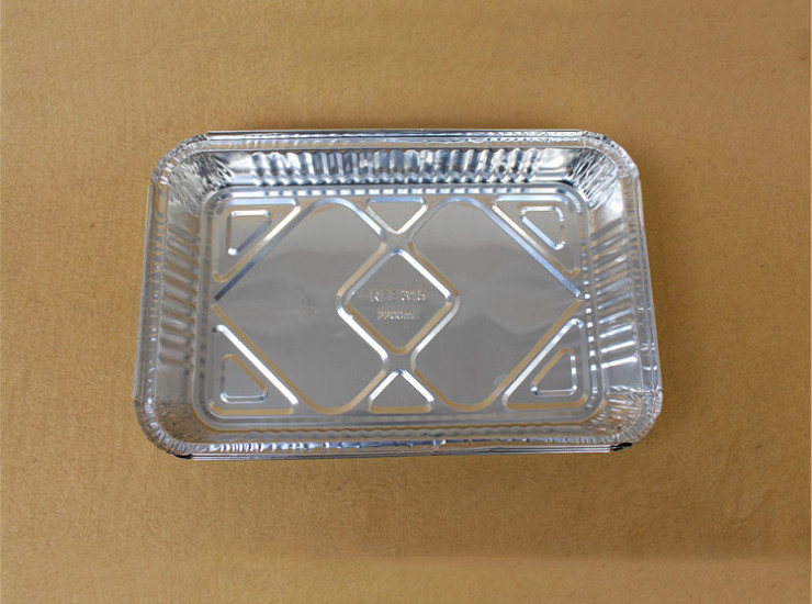 (Box/200 Pcs) Tin Paper Box Grilled Fish Barbecue Disposable Aluminum Foil Bowl Large Capacity Tin Paper Plate (Door Delivery Included)