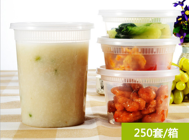 (Box/200 Sets) Disposable Transparent Bowl Thickened Round Flat Plastic Bowl Export 8/16/32Oz Pp Soup Bowl A Variety Of Specifications (Door Delivery Included)