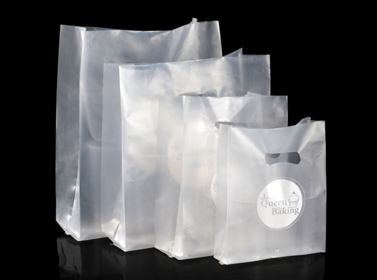 (Box/2000) Baking Packaging Thick Single Side 4.5 Silk Dessert Bag Cake Portable Packing Bag Toast Bread Plastic Bag (Door Delivery Included)