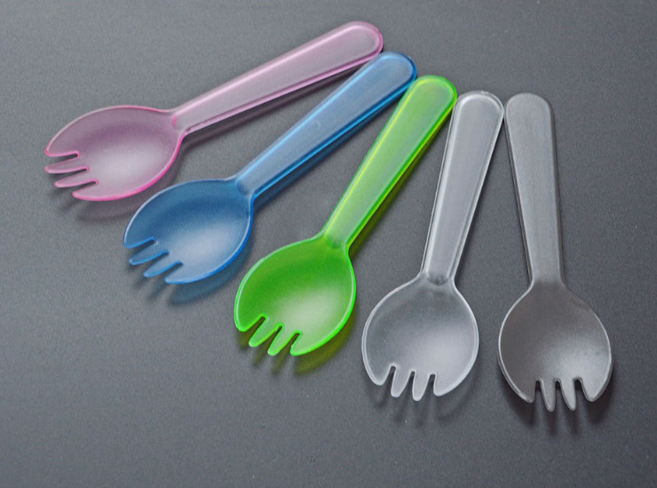 (Box/2000) Disposable Spoon Color Matte Individually Wrapped Fork Fork Spoon Thicken Cake Spoon Dessert Spoon (Door Delivery Included)