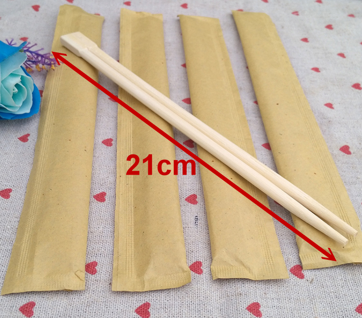 (Environmentally Friendly Natue Degradable Tableware In Stock) (Box/1000 Pairs) Independent Paper Packaging Disposable Bamboo Chopsticks Wholesale Environmental Health Chopsticks 21Cm Piece Chopsticks