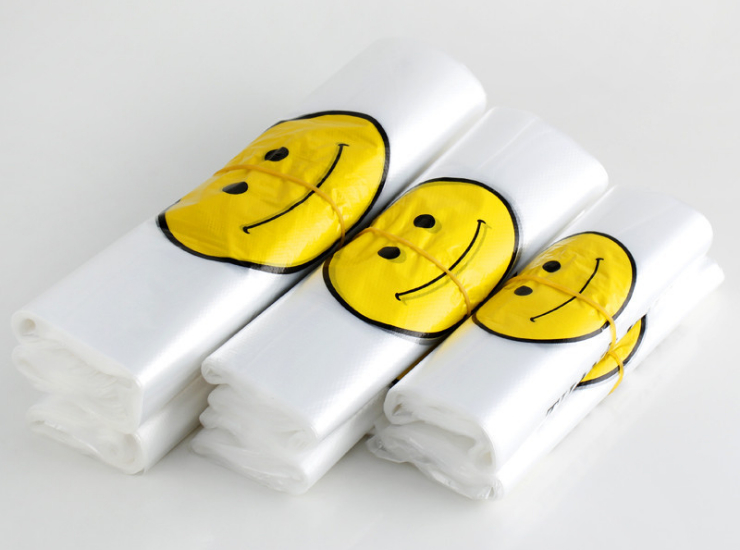(Box/2000) Smiley Bag Wholesale Convenient Bag Shopping Bag Portable Plastic Bag Custom Disposable Vest Takeaway Bag Packing Bag (Door Delivery Included)