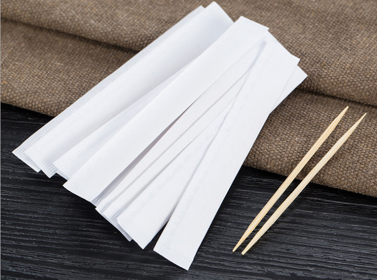 (Box/20000) Double-Pointed Single Bamboo Toothpicks Exquisite White Paper Bag Toothpick Hotel Independent Packaging High-End Toothpicks (Door Delivery Included)