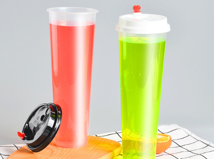 (Box/300) 1000Ml Oversized Injection Cup 90-Time Disposable Tea Cup Pp Cold Drink Juice Plastic Cup (Door Delivery Included)