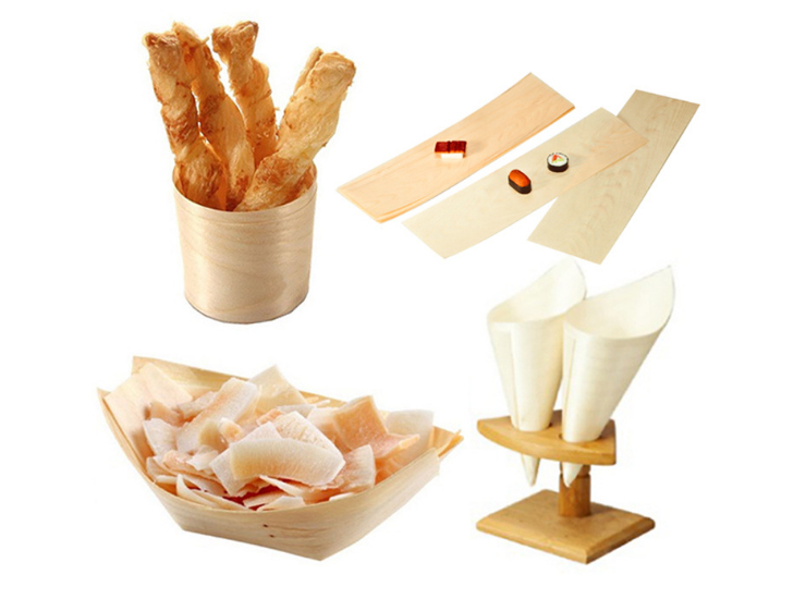 (Box/300 Pcs) Disposable Wooden Kayak Cuisine Box Cutlery Sushi Box Mug Cup Wood Snack Tray Boat (Door Delivery Included)
