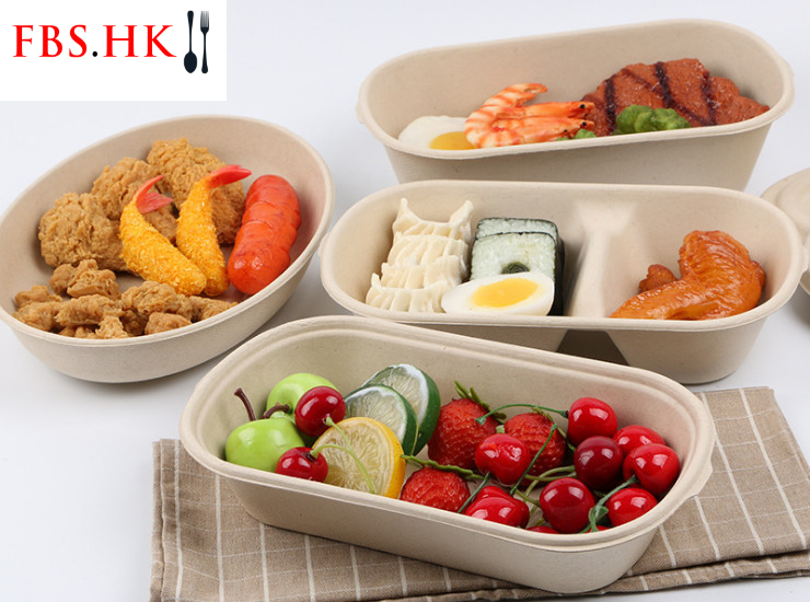 (Box/300 Sets) Disposable Pulp Lunch Box Environmentally Friendly Degradable Takeaway Compartment Packing Box Salad Bowl Wheat Straw Pulp Lunch Box High Temperature Resistant Microwaveable (Door Delivery Included)