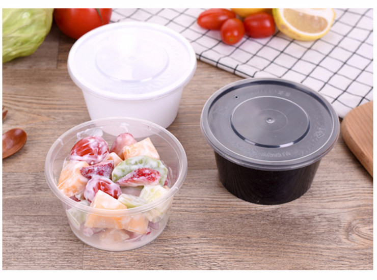 (Box/300 Sets) Round 450Ml Disposable Lunch Box/Fast Food Takeaway Package Lunch Box/Pp Plastic Thickened Lunch Bowl (Door Delivery Included)