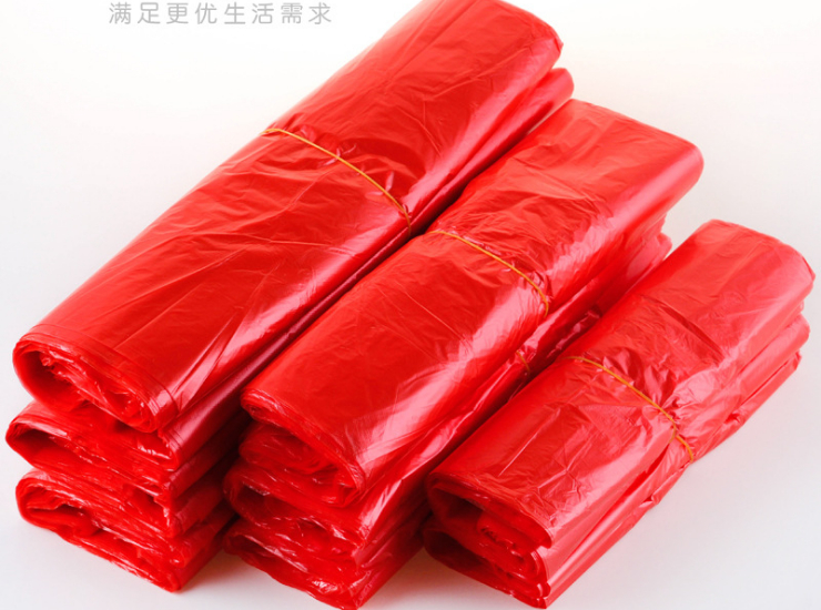 (Box/3000) Red Plastic Vest Shopping Bag Wholesale Large Medium And Small Portable Disposable Fruit And Vegetable Packaging Convenience Bag (Door Delivery Included)
