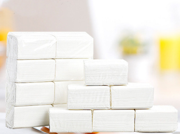 (Box/40 Pack)) Easy Pack) Packed Napkin 5 Lift Batch Hotel Restaurant Hengan Pulp Tape Three-Layered Wipes Wholesale (Door Delivery Included)