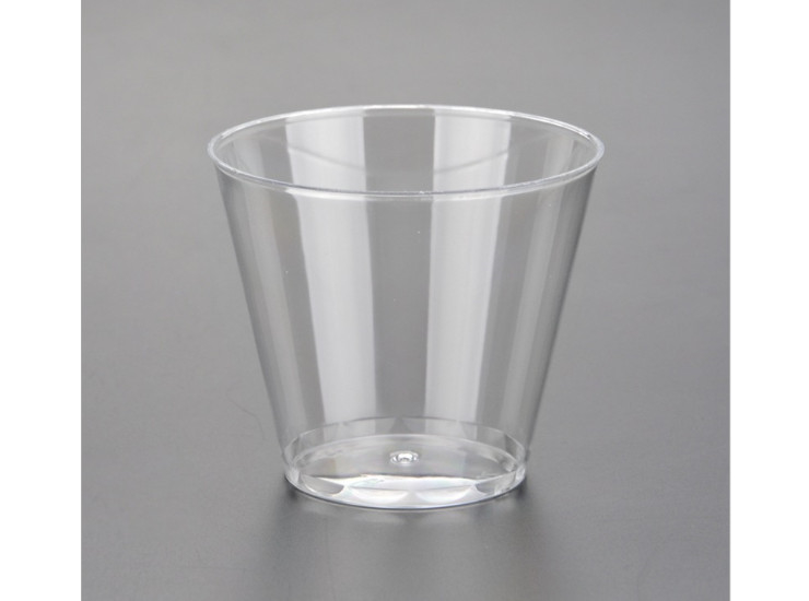(Box/500) 150Ml Disposable Cup Ps Aviation Cup Hard Plastic Cup Glass Cup Transparent Thickening Business Entertainment Cup (Door Delivery Included)