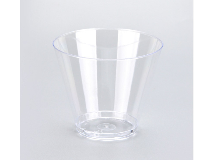 (Box/500) 270Ml Disposable Cup Ps Hard Plastic Aviation Cup Thickened Drinking Cup Transparent Reception Cup (Door Delivery Included)