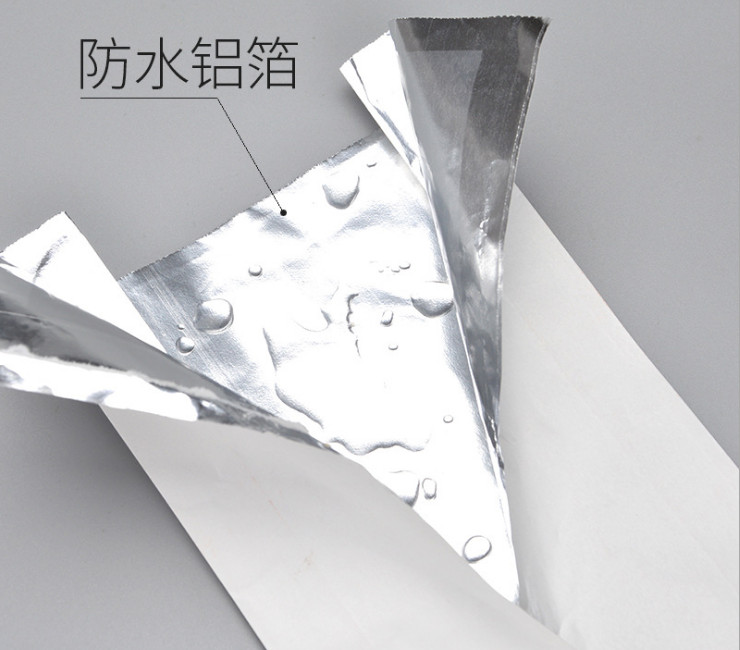 (Box/500) Disposable Oil-Proof Aluminum Foil Coating Tip-Top Bag Chicken Strip French Fries Hand Cake Packing Bag Fried Chicken Paper Bag (Door Delivery Included)