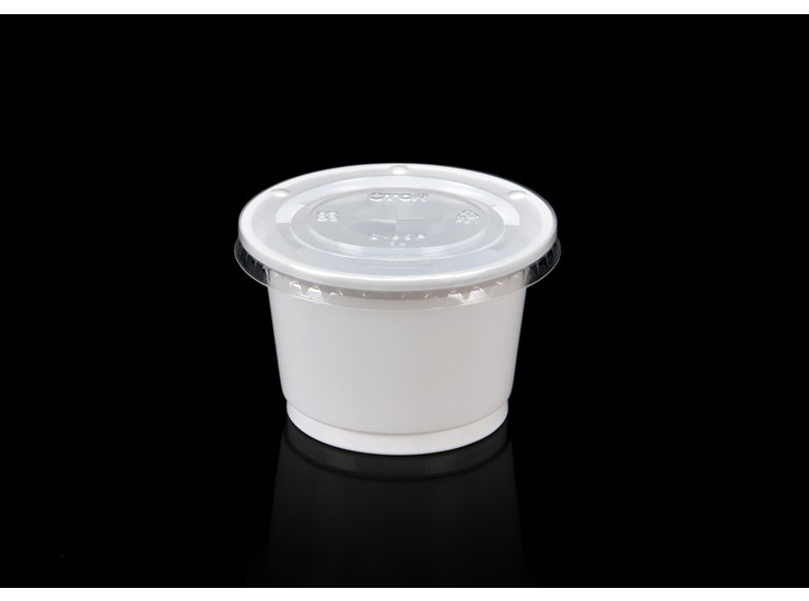 (Box/500 Sets) 250/300Ml Packing Box Disposable Plastic Porridge Bowl Yoghurt Pudding Double Skin Cup With Lid (Door Delivery Included)