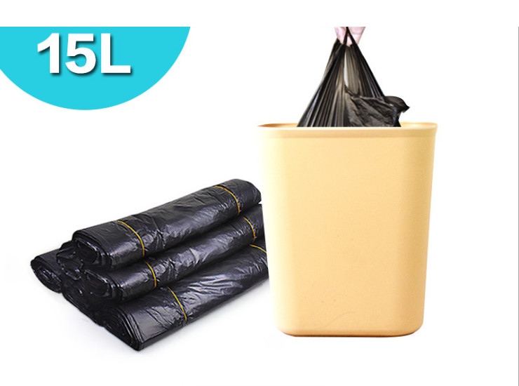 (Box/500) Thickened Trash Bags Convenient To Handle Garbage Bags Plastic Bags 15L Special 50 Trumpet (Door Delivery Included)
