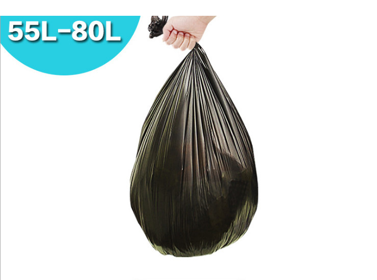 (Box/500) Thickened Trash Bags Convenient To Handle Garbage Bags Plastic Bags 60L Dedicated 50 Loaded Large (Door Delivery Included)