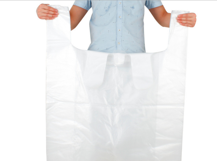 (Box/500) White Large Plastic Bag Thick Vest Bag Wholesale Clothing Package Moving Bag Portable Ultra-Large Convenient Bag (Door Delivery Included)