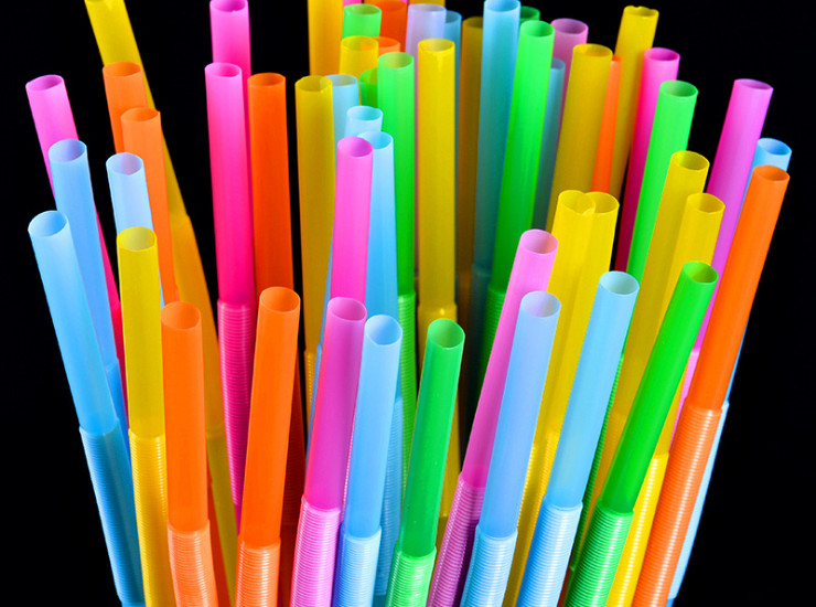 (Box/5000 Pcs) High Quality Disposable Pp Straw Plastic Art Straw Drink Juice Straw Color Curved Tube (Door Delivery Included)