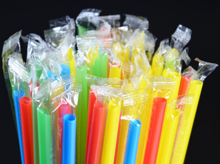 (Box/5000 Pieces) Single Individually Wrapped Disposable Beverage Straws, Environmentally Friendly Color Pp Sand Ice Straws, Straight Straws (Door Delivery Included)