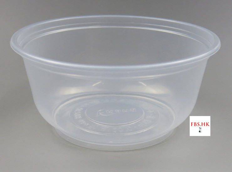 (Box/600) 700Ml Disposable Rice Bowl Wholesale Fast Food Soup Bowl Plastic Plastic Transparent Bowl Take-Away Packaging Bowl (Door Delivery Included)