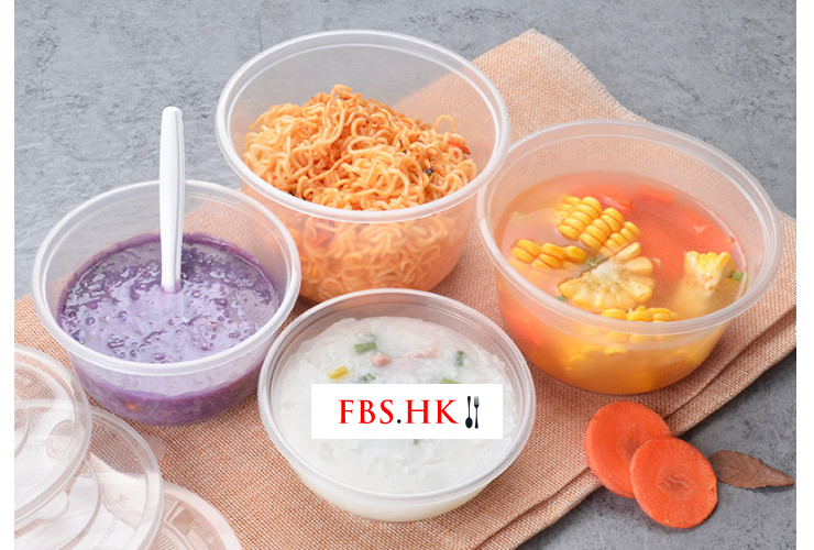 (Box/600) Disposable Transparent Pp Plastic Bowl Environmental Takeaway Pack Heatable Soup Powder Round Bowl 300Ml 500Ml Plastic Bowl (Door Delivery Included)
