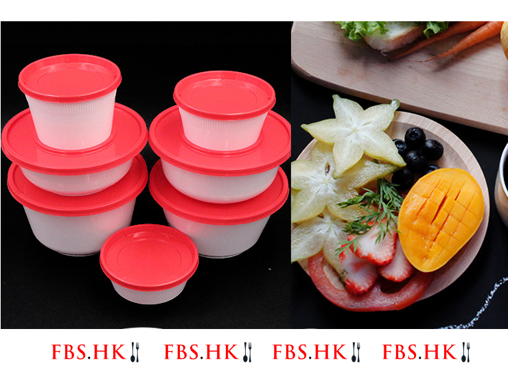 (Box/600 Sets) Disposable Lunch Box Takeaway Bowl Disposable Ajisen Ramen Packing Box Red And White Bowl Disposable Noodle Soup Bowl (Door Delivery Included)