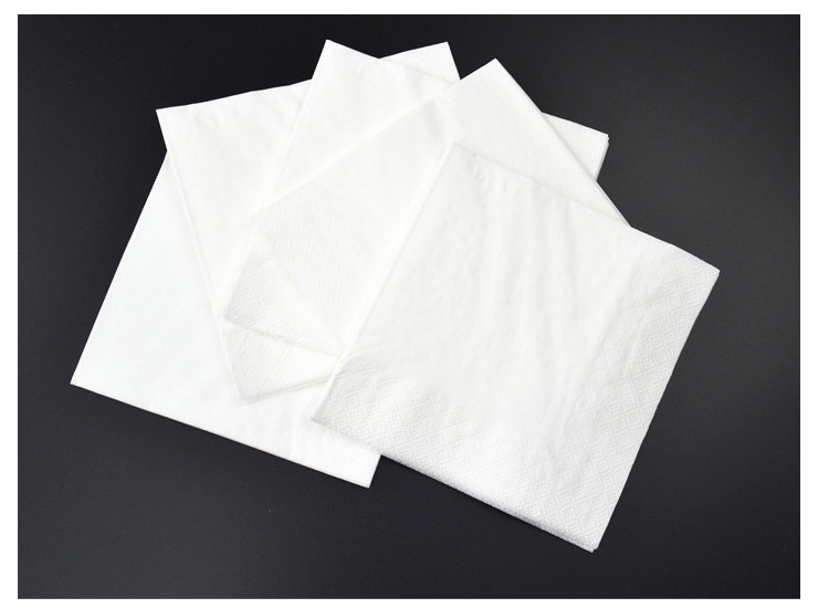 (Box/64 Pack)/No Print Pure White) Cafe Western Restaurant Towel Paper Napkin Disch Bill 100/Pack) Two Layers 23 x 23Cm (Door Delivery Included)