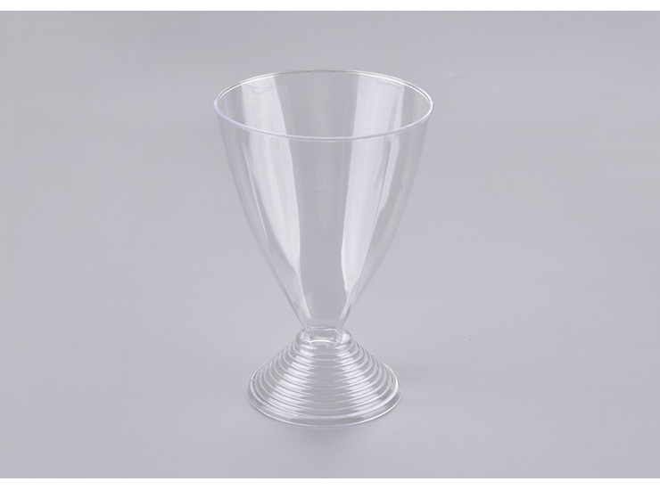 (Box/90) 200Ml Disposable Goblet Ps Hard Plastic Aviation Cup Party Red Wine Cocktail Glass (Door Delivery Included)
