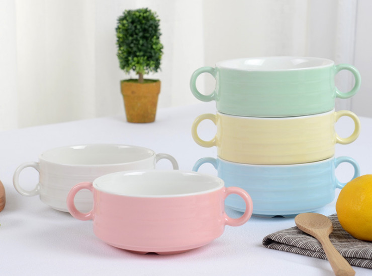 Bunny Soup Bowl Ceramic Salad Dessert Bowl Borscht Soup Sauce Soup Kitchen Set Tableware