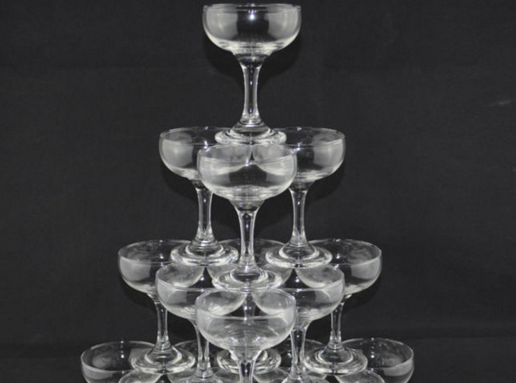 Butterfly Champagne Cup Stack Champagne Tower Cup Wedding Glass Champagne Cup Goblet