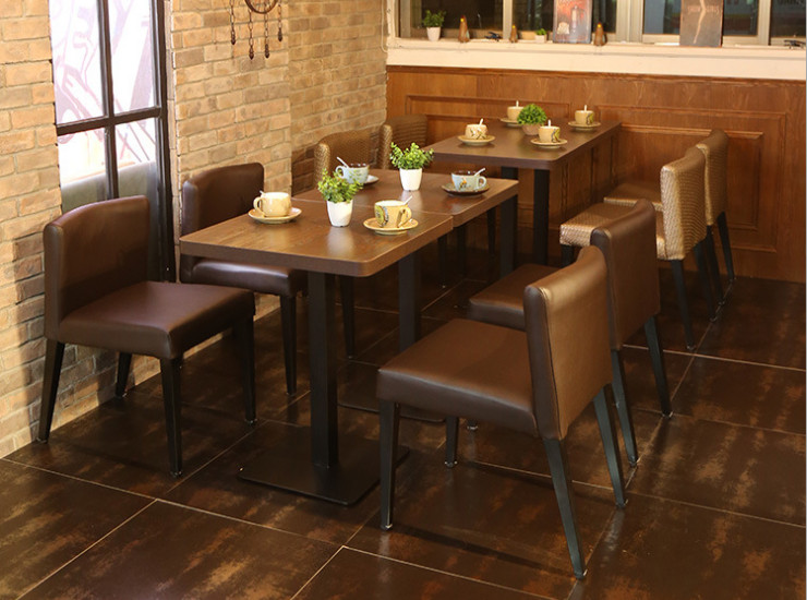 Cafe Dining Table And Chairs Dessert Shop Tea Shop Snack Bar Restaurant Table Restaurant Table And Chair Combination (Shipping Fee Quoted Separately)