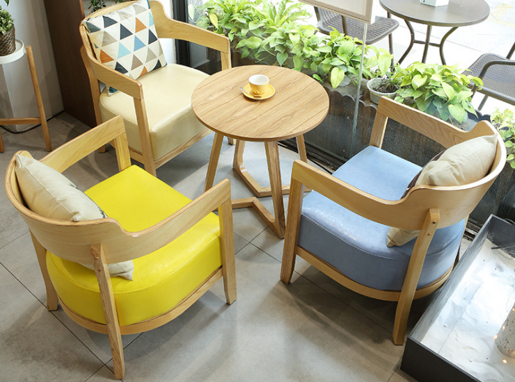 Cafe Tables Chairs Combination Dining Furniture Leisure Cafe Dessert Shop Tea Shop Tables Chairs Negotiating Reception (Delivery & Installation Fee To Be Quoted Separately)