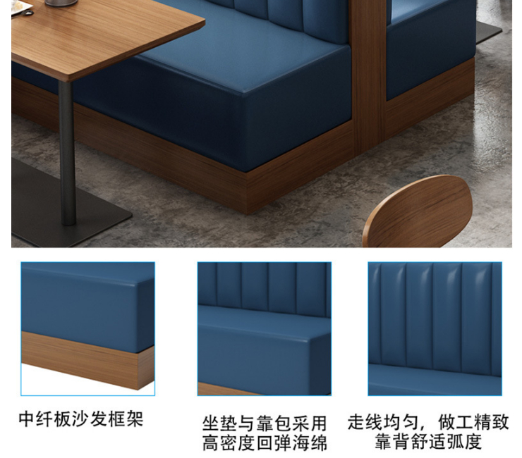 Cafe Tables Chairs Loft Bar Theme Western Restaurant Card Seat Dessert Shop Tea Shop Sofa Table Chair Combination (Delivery & Installation Fee To Be Quoted Separately)