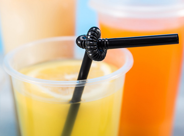 (Carton/1600) Wholesale Disposable Tea Straw Plastic Color Black Straw 0.6 X 26 Art Straw (Door Delivery Included)