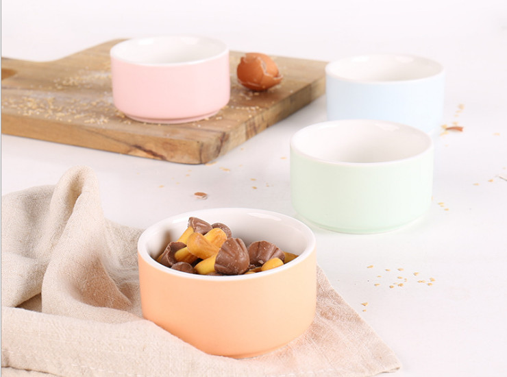 Ceramic Baking Abrasives Baking Bowl Creative Shufu Lei Bunches High Temperature Round Glazed Ceramic Cake Mold Bake Rice Bowl Pudding Bowl Wholesale