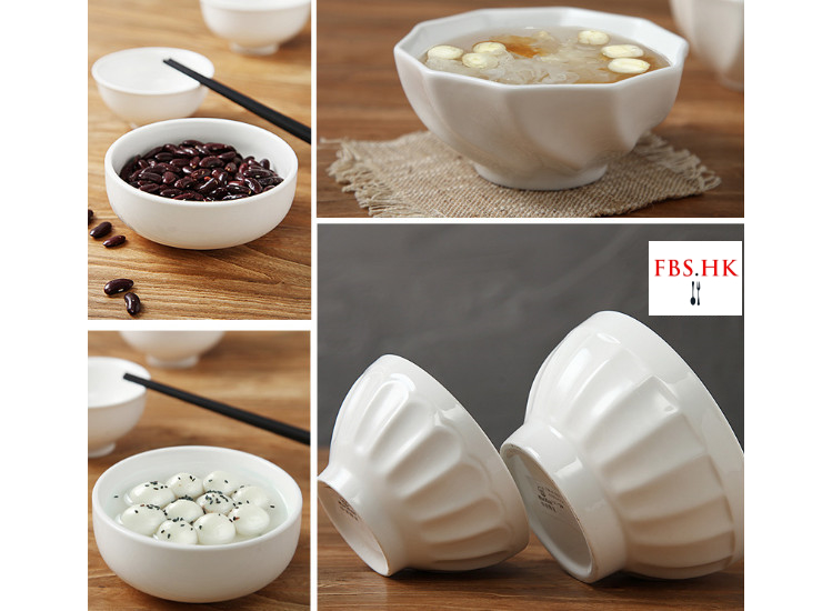 Ceramic Rice Bowls Daily Use Hotel Bowls Household Rice Bowls Simple Western Bowl Personality Creative Bowl