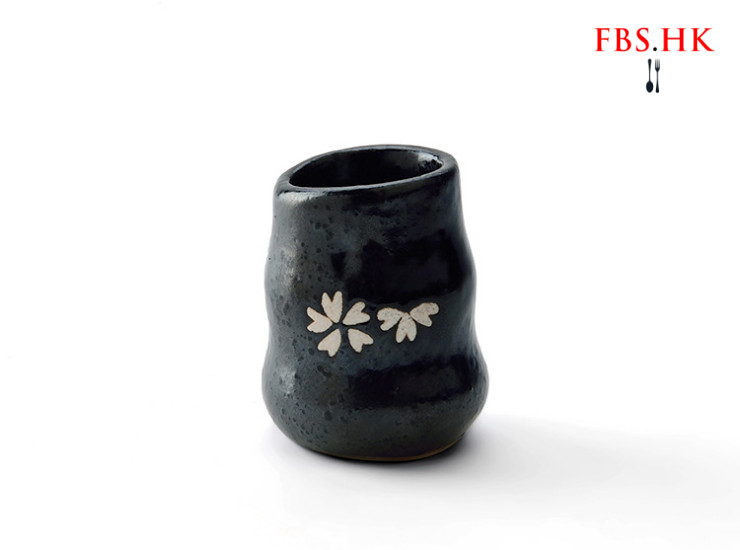 Cherry Blossom Toothpick Creative Toothpick Jar Bottle Japanese And Korean Black Matte Toothpick Box Ceramic Japanese Tableware