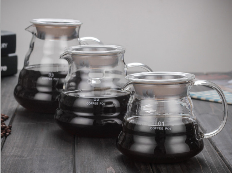 Coffee Pot, Cloud Pot, Water Pot, Coffee Pot, Hand-Washed Glass Pot, Glass Coffee Pot, Glass Teapot
