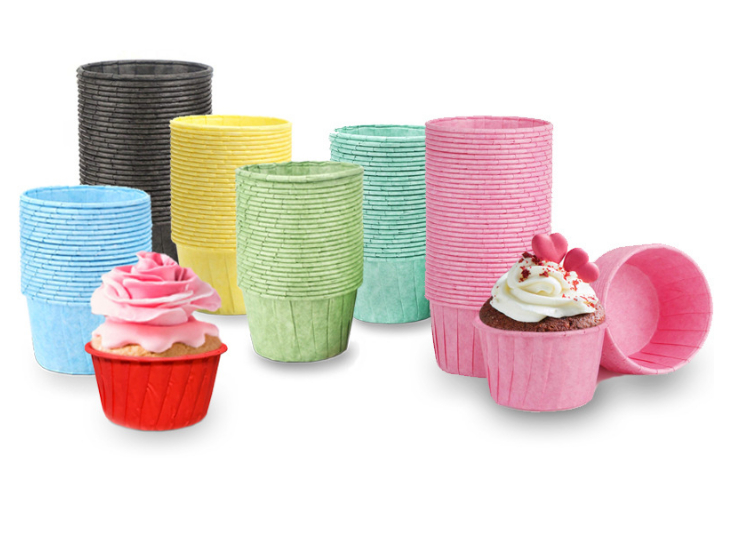(Box/3000Pcs) Color Crimped Muffin Cup Greaseproof Paper Cup Cake Cup Muffin Paper Cup Chiffon Cake Paper Cup Paper Cup Holder (Door Delivery Included)