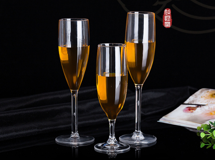 Creative Champagne Cup Pc Red Wine Glass Acrylic Goblet Transparent Plastic Cup