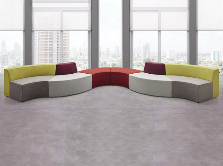 Creative Combination Shaped Early Education Sofa Orphaned Office Lounge Sofa Hotel Shopping Mall Rest Office Waiting Sofa (Shipping & Installation Fee To Be Quoted Separately)