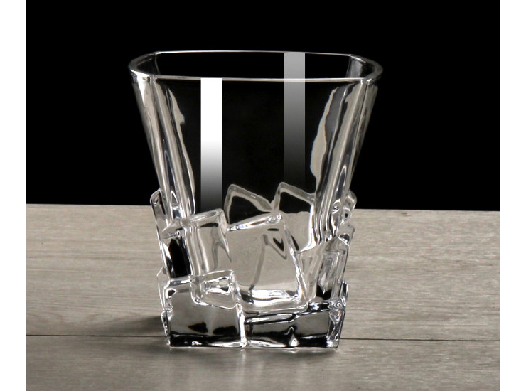 Creative Ice Cube Cup Lead-Free Glass Square Water Cup Tea Cup Drink Cup Hotel Ktv Essential
