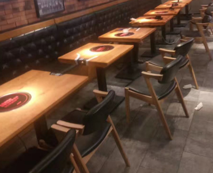 (Custom-Produced) Tea Restaurant Ice Room Sofa Tables Chairs Restaurant Fast Food Restaurant Double Card Bench Bench Table Chair Combination (Delivery & Installation Fee To Be Quoted Separately)