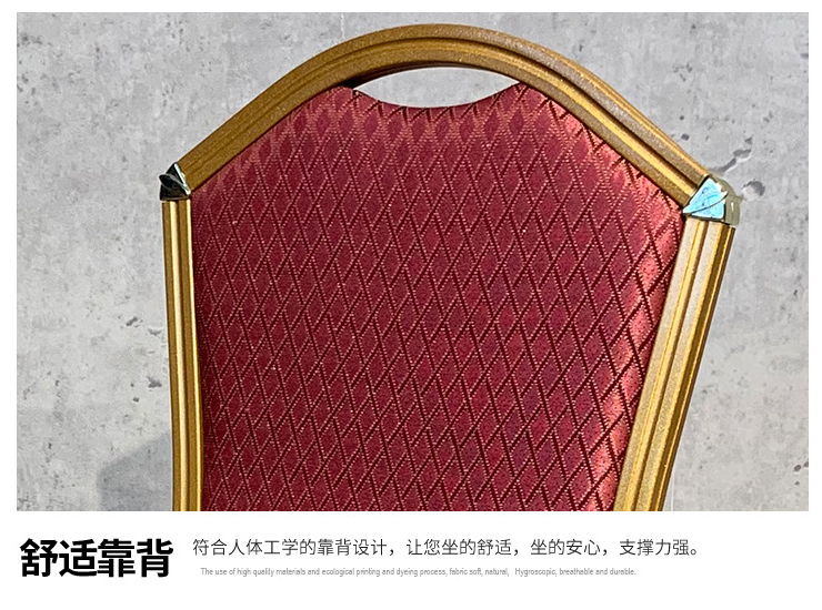 Direct Sales Chair Banquet Light Luxury Dining Chair Hotel Creative Model Aluminum Frame Simple Chair (Shipping Fee To Be Quoted Separately)