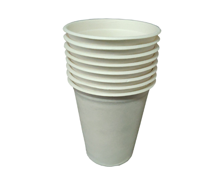 (Instant Pick Eco-fiendly Biodegradable Sugarcane Pulp Hot Cold Drink Cup Ready Stock) (Box/1000 Sets) Disposable Fullly-biodegradable Drink Cup Eco-friendly Sugarcane Coffee Cold Hot Drink Cup 8oz 12oz